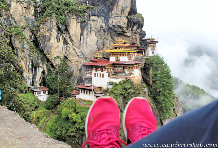 Chilling in front of Tiger's Nest Bhutan