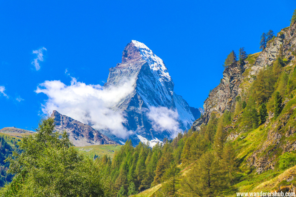 the Matterhorn mountain in Zermatt