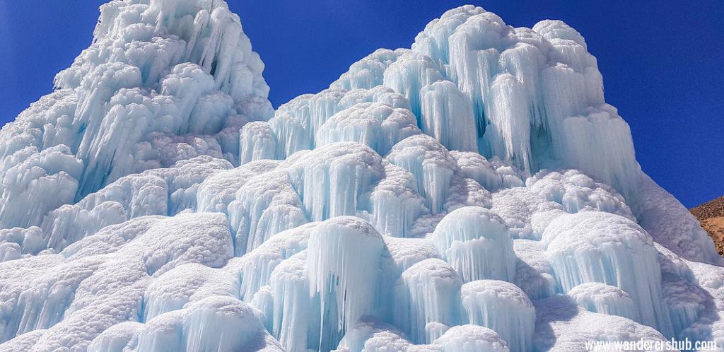 Man made ice stupa in Ladakh